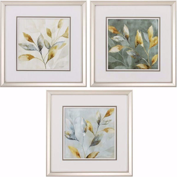 Picture of Majestic Leaves Wall Art Set