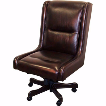 Picture of Prestige Desk Chair in Cigar Top Grain Leather