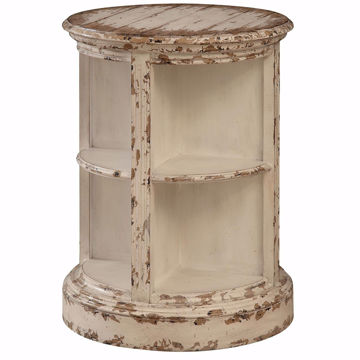 Picture of Cream Wood Round Accent Table