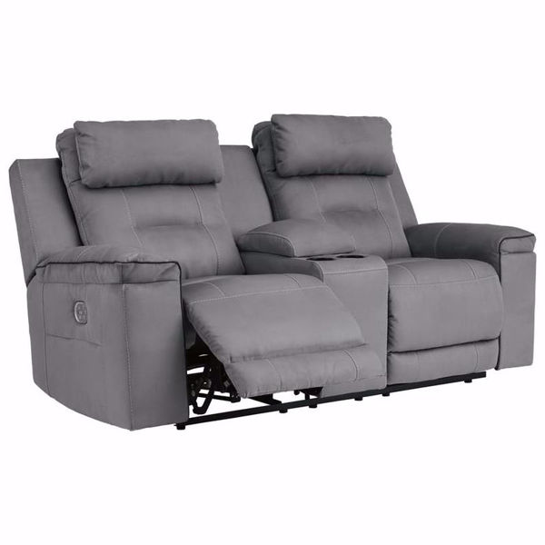 Picture of Trenton Power Reclining Loveseat with Console and Power Headrest