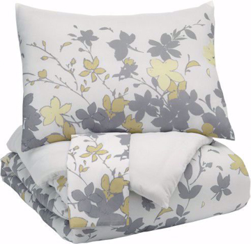 Picture of Maureen Gray and Yellow King Comforter Set