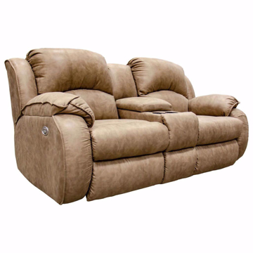 Picture of Bradington Loveseat with Console in Camel