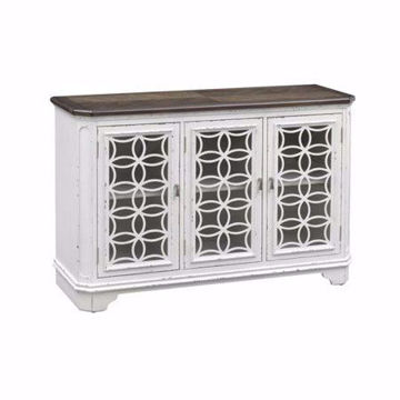 Picture of Cottage Row White 3 Drawer Media Credenza