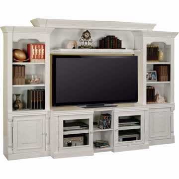 "Picture of Alpine 43"" X-pandable Console White Entertainment Wall"