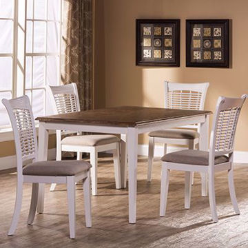 Picture of Bayberry White 5 Piece Rectangle Dining Set