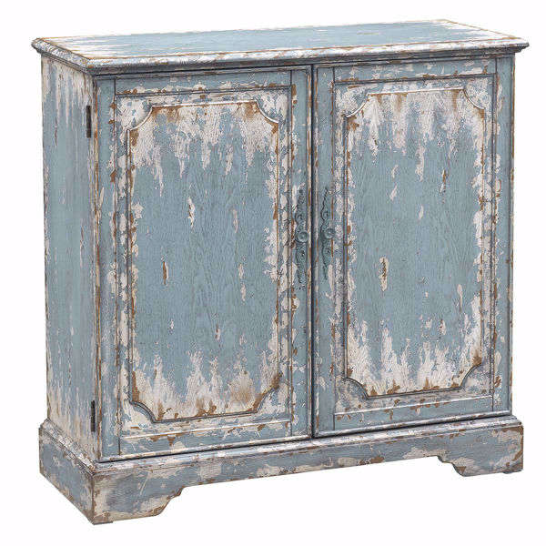 Picture of Cabot Aged Blue and Cream Two Door Cabinet