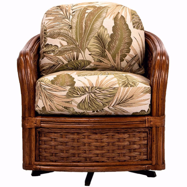 Picture of Somerset Rattan Swivel Barrel Chair