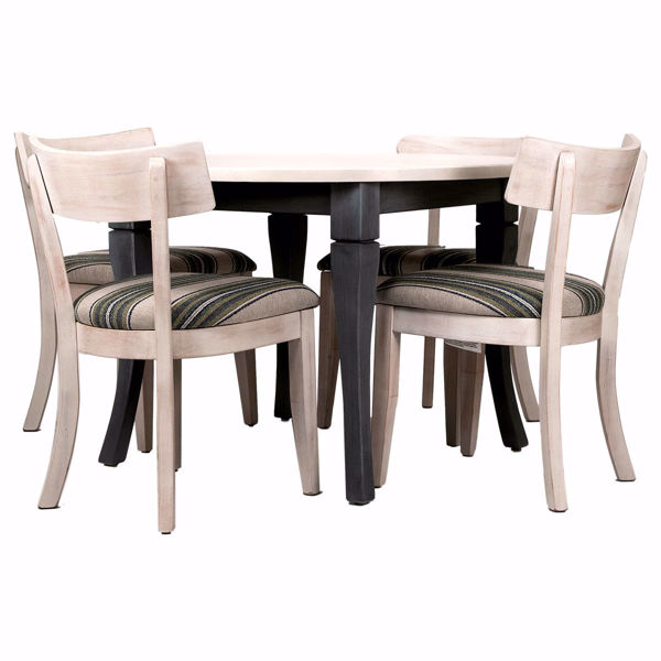 Picture of Midtown Round 5 Piece Upholstered Dining Set