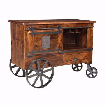 Picture of Two Door One Drawer Wine Cart