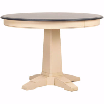 "Picture of Custom Dining 44"" Round Two-Tone Dining Table"