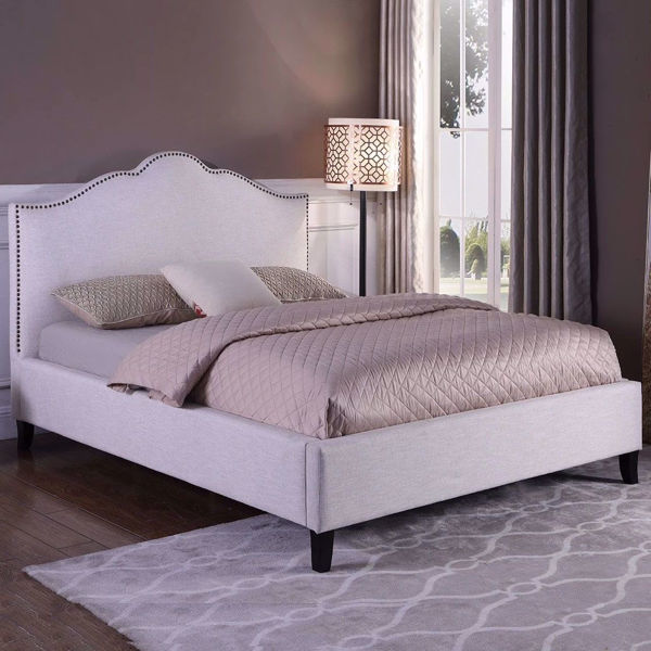 Picture of Jamie Flour Upholstered Queen Bed