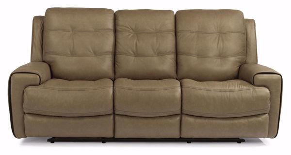 Picture of Wicklow Power Reclining Leather Sofa with Power Headrest