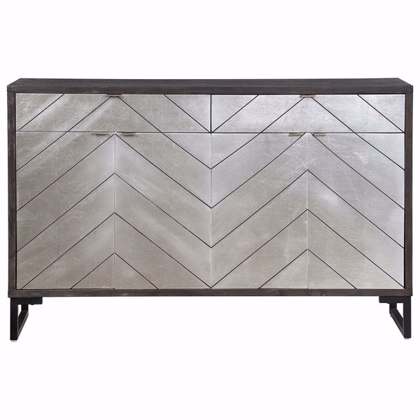 Picture of Contemporary Four Door Two Drawer Media Credenza