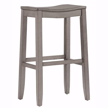 Picture of Fiddler Saddle Backless Aged Gray Counter Stool