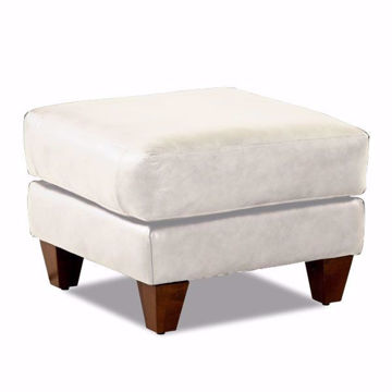 Picture of Ella Ice Leather Ottoman