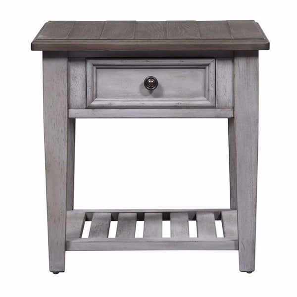 Picture of Piazza Antique White 1-Drawer End Table