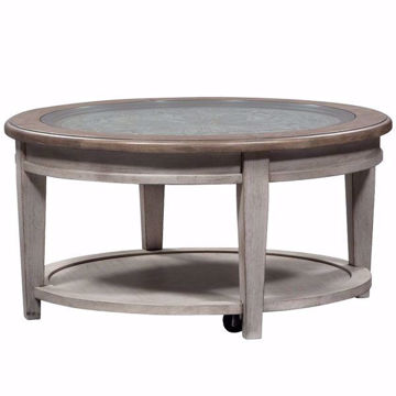 Picture of Piazza Antique White Round Cocktail Table