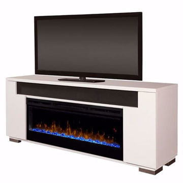 Picture of Haley White Console Fireplace
