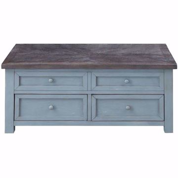 Picture of Bar Harbor Two Drawer Lift Top Cocktail Table