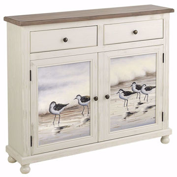 Picture of Aruba 2 Tone Cabinet with Painted Panels