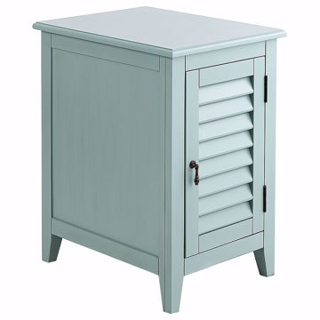 Picture of Plantation Glacier Blue Chairside Table