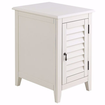 Picture of Plantation White Chairside Cabinet