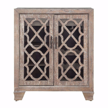 Picture of Bronte Light Brown Two Door Wine Cabinet