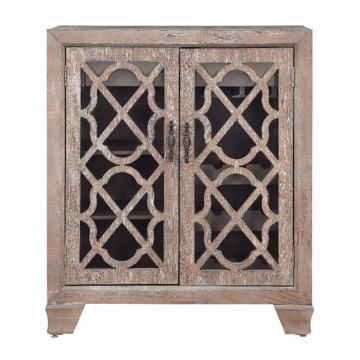 Picture of Bronte Light Brown Two Door Wine Cabinet