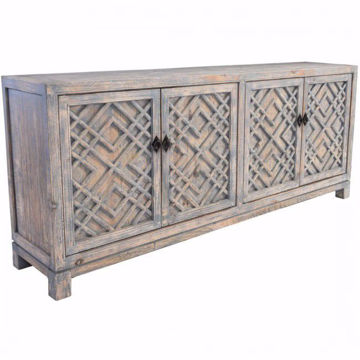 Picture of Antigua Distressed Blue 4 Door Sideboard