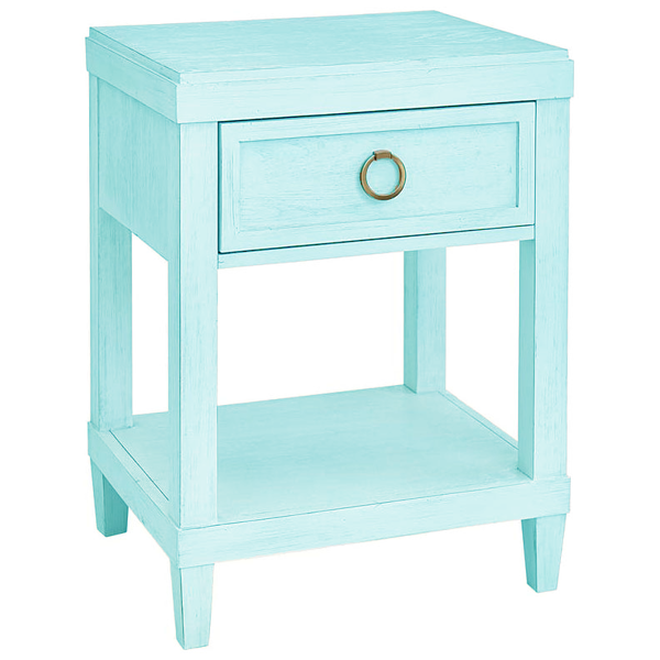 Picture of Ventura Sky Blue Bedside Table