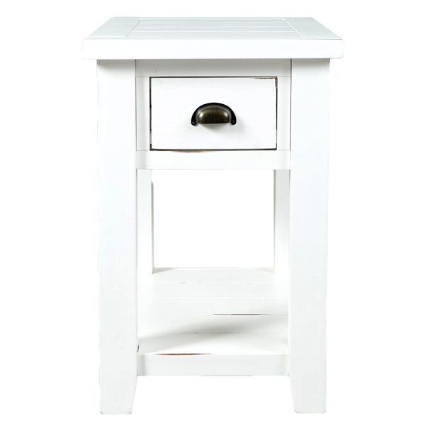Picture of Artisan White Chairside Table