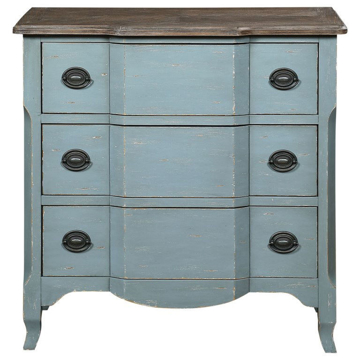 Picture of Bar Harbor Blue 3 Drawer Chest