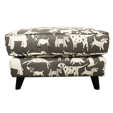 Picture of Doggie Graphite Chair Ottoman