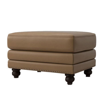Picture of Jackson Leather Ottoman