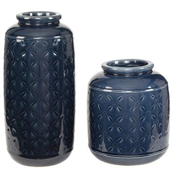 Picture of Marenda Navy Blue Vase Set