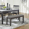 Picture of Meredith Dark Charcoal Grey Upholstered Bench