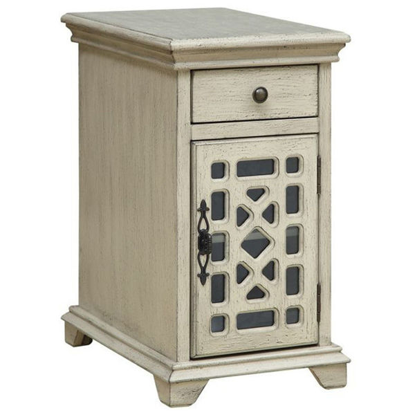 Picture of Millstone Texture Ivory One Drawer One Door Chairside Cabinet