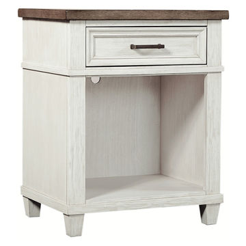 Picture of Caraway Aged Ivory 1 Drawer Nightstand
