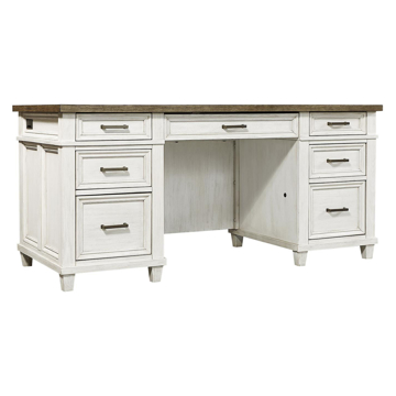 "Picture of Caraway Aged Ivory 66"" Executive Desk"