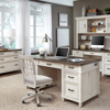 """Picture of Caraway Aged Ivory 66"""" Executive Desk"""