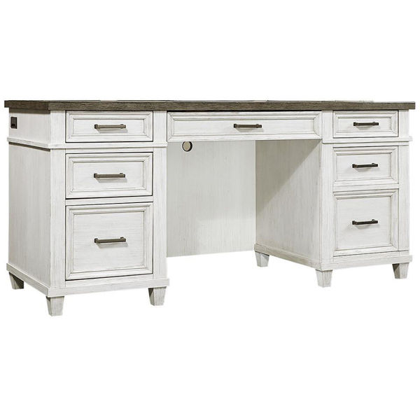 Picture of Caraway Aged Ivory Credenza Desk