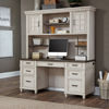 Picture of Caraway Aged Ivory Credenza Hutch