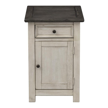 Picture of St. Claire Cream 1 Door 1 Drawer Chairside Cabinet
