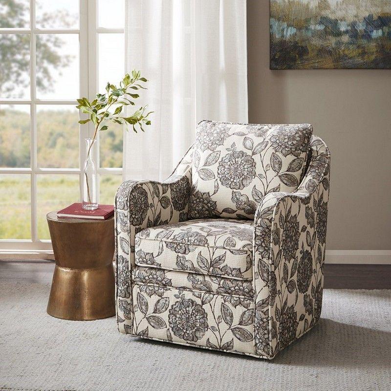 Picture of Brianne Slub Weave Wide Seat Swivel Arm Chair