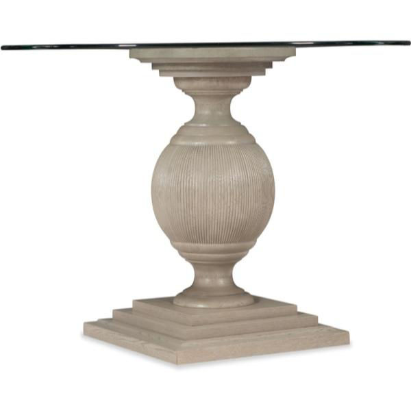 Picture of Reverie Glass Top Round Pedestal Dining Table