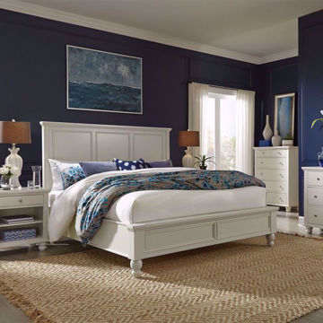 Picture of Cambridge White Panel Bed