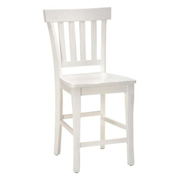 Picture of Madaket White Slat Back Bar Stool