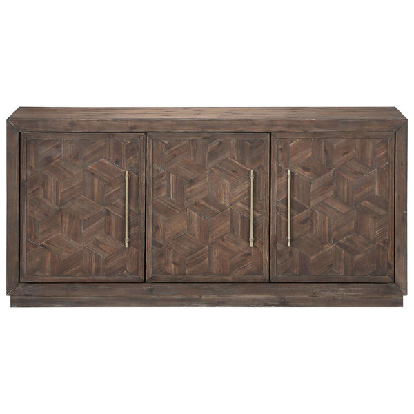 Picture of Contemporary Three Door Media Credenza