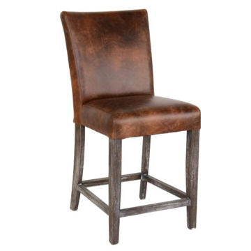 Picture of Decker Non-Swivel Brown Counter Stool