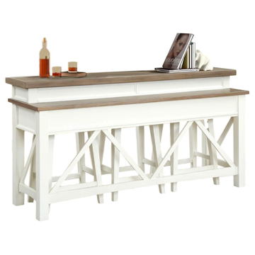Picture of Americana 4 Piece Console Bar and Stool Set